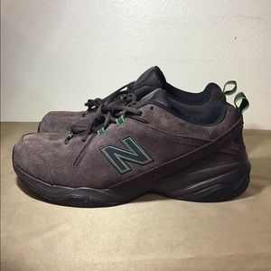 New Balance Dad Shoes Brown Suede Green Accents
